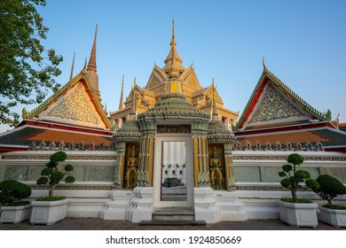 Bangkok, Thailand, Thursday 25 February 2021 : Temple of Reclining Buddha, Wat Pho, Bangkok, Thailand.