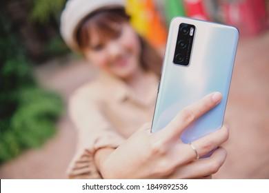 BANGKOK THAILAND : Vivo launch New Smartphone Vivo V20 SE on November 9 ,2020 bangkok ,thailand