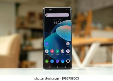 BANGKOK THAILAND : Vivo launch New Smartphone Vivo X50 Pro 5G on June 10 ,2021 bangkok ,thailand