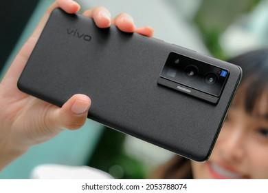 BANGKOK THAILAND : Vivo launch New Smartphone Vivo X70 Pro 5G on October 7,2021 bangkok ,thailand