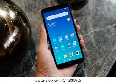 BANGKOK THAILAND : Xiaomi launch new smartphone Redmi 7A on July 2 ,2019 bangkok ,thailand