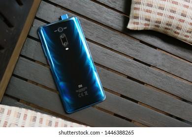 BANGKOK THAILAND : Xiaomi launch new smartphone Xiaomi Mi 9T on July 9 ,2019 bangkok ,thailand
