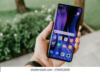 BANGKOK THAILAND : Xiaomi launch new smartphone Xiaomi Mi Note 10 Lite on June 15 ,2020 bangkok ,thailand