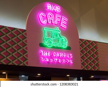 BANGKOK THAILAND-18 OCTOBER 2018; BNK48 Campus The first BNK48's cafe and early Japanese copyrights, AKB48, also has a cafe in Akihabara. The launch of a cafe that bundles with BNK48's theater.