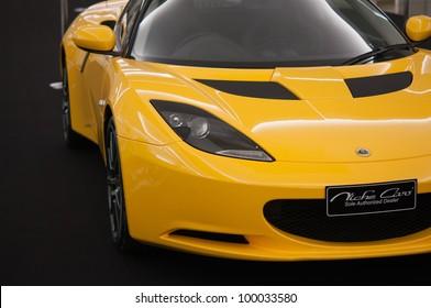 BANGKOK, THAILAND-APRIL, 14: Lotus Elise super car on display on Lotus show at Siam Paragon, April 14, 2012 in Bangkok, Thailand