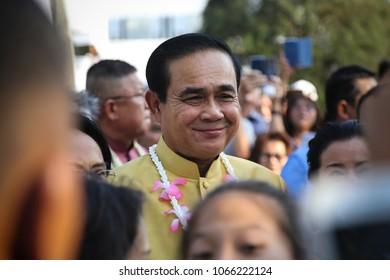 Bangkok, Thailand-April 8, 2018: Thai prime minister, Prayut Chan-o-cha.