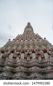 Bangkok, Thailand-August 11, 2019:  The ancient Wat Arun or Temple of dawn is a must visit tourist destination in Bangkok. With Thai historical values, Wat Arun is considered a landmark of Thailand.