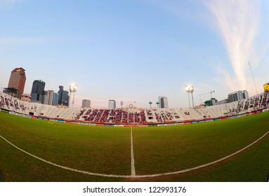 BANGKOK THAILAND-DECEMBER 13:Unidentified view of  Supachalasai stadium during the AFF Suzuki Cup between  Malaysia and Thailand at Supachalasai stadium on Dec13, 2012 in,Thailand.