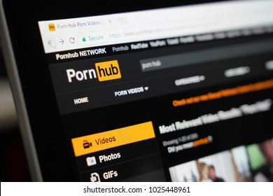 BANGKOK, THAILAND-FEBRUARY 15: Pornhub Website on the Screen on February 15 ,2018. in Bangkok Thailand.