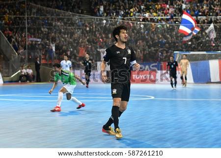 BANGKOK THAILAND-JAN 29 Kritsada Wongkaeo of Thailand in action during AFF  AIS Futsal f0b8a55ff7946