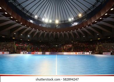 BANGKOK THAILAND-JAN 29:View of Hua Mark Indoor Stadium during AFF AIS Futsal Championship 2016 Match Thailand and Myanmar at Hua Mark Indoor Stadium on January 29,2017