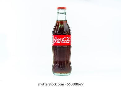 Bangkok, Thailand.June 21, 2017: Cocacola drinks are popular drinks around the world.Thailand