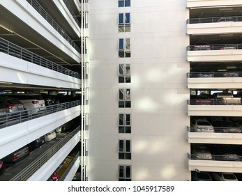 Bangkok, Thailand-March 1 2018; Car park building with lot of cars.