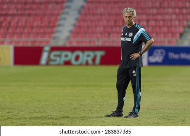 BANGKOK ,THAILAND:MAY 30: JOSE MOURINHO Head Coach of Chelsea FC inThe Singha Chelsea FC Celebration Match at Rajamanggala Nationnal Stadium, Bangkok, Thailand; 30 May 2015