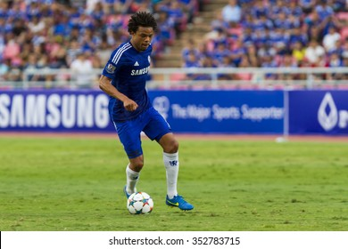 BANGKOK ,THAILAND:MAY 30:Loic Remy of Chelsea inThe Singha Chelsea FC Celebration Match between Chelsea FC and THAILAND Nation at Rajamanggala Nationnal Stadium,Bangkok, Thailand.