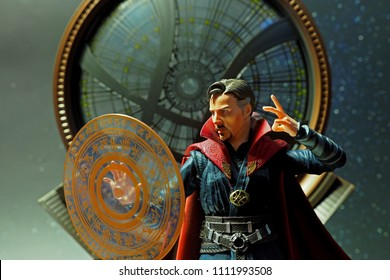 Bangkok, Thailand-May 5,2018: Dr.Strange, an action figure from famous Marvel's comic.