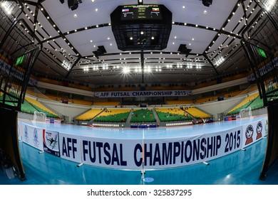 BANGKOK THAILAND-OCT8:View of Bangkok Arena Stadium during 2015 AFF Futsal Championship at Bangkok Arena Stadium on October8,2015in Thailand