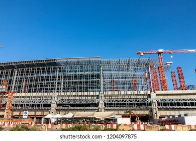 Bangkok, Thailand-October 12, 2018: Construction site of Bang Sue grand railway station, The new mass transportation center.