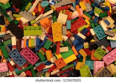 Bangkok Thailand-Sep2018: Lego toy background