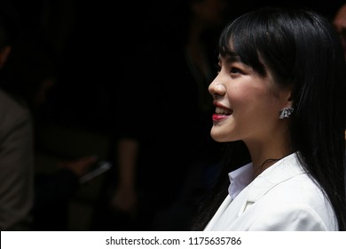 "Bangkok, Thailand-September 4, 2018: Cherprang , Thai idol group ""BNK48"" shows at Thai Government House to join campaign to promote national reform led by Prime Minister."