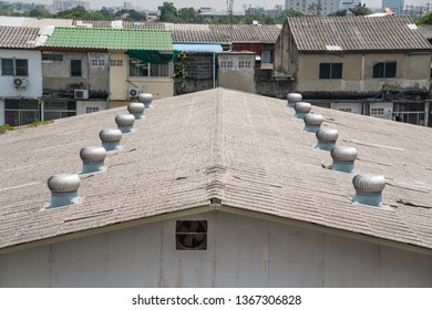 in Bangkok there is a large room with a sloping roof with ventilation