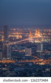 Bangkok top view cityscape