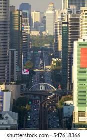 BANGKOK Traffic jam in city center on January 3, 2017 in Bangkok, Thailand.