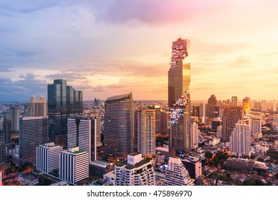 Bangkok view Mahanakhon is the new highest building in Bangkok. Rising building