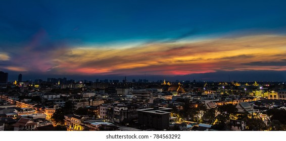 Bangkok view on twilight time : JAN 2018