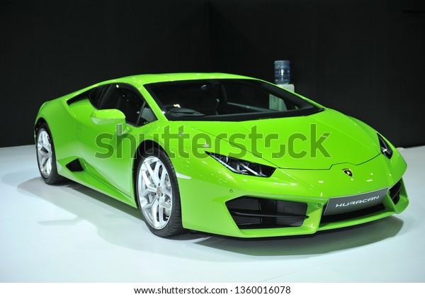 Bangkokapril 4 Lamborghini Car 38th Bangkok Stock Image