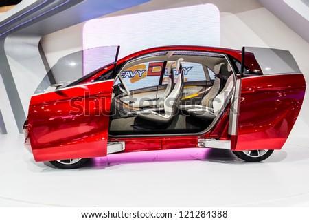 Bangkokdec 03 Tata Megapixel Electric Eco Stock Photo Edit Now