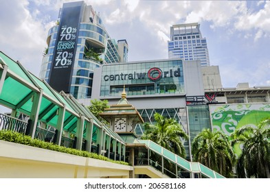 BANGKOK-MAY 26: Front view of Central World Shopping Center on May 19, 2013. It is a shopping plaza and complex in Bangkok which is the sixth largest shopping complex in the world