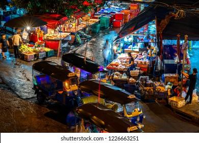 Bangkok's busy Khlong Toei Market.