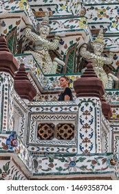 BANGKOK/THAILAND: 09/03/2016: Wat Arun Temple in bangkok Thailand. Wat Arun is a Buddhist temple in Bangkok Yai district of Bangkok, Thailand, Wat Arun is among the best known of Thailand's landmarks