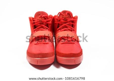 070dfcd61d012 BANGKOKTHAILAND 12018 PRODUCT SHOOT Nike AIR YEEZY Stock Photo (Edit ...