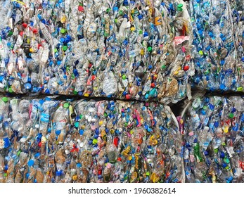 Bangkok,Thailand 20April 2021:Water bottles for recycling and reducing the ecological environment.