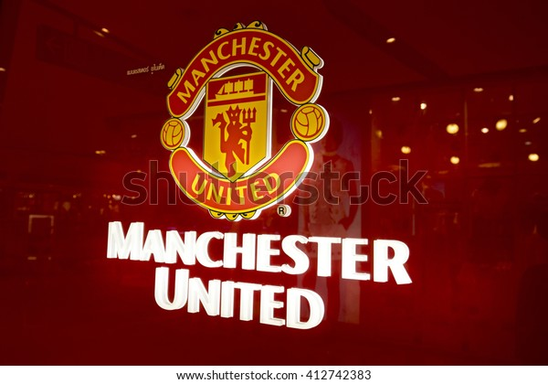 Bangkok,THAILAND, -24 APRIL 2016 : the logo of the Manchester United football club in department store of Bangkok Thailand.