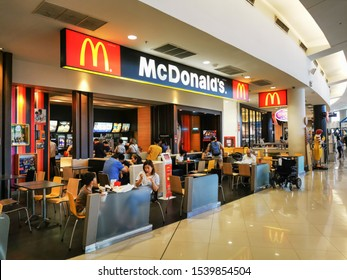 """Bangkok,Thailand, 24/10/2019: McDonald's legendary fast food restaurant began in 1940 by two pioneer brothers, """"Dick and"""" McDonald. """"BBQ"""" """"McDonald's"""" BBQ McDonald """""""