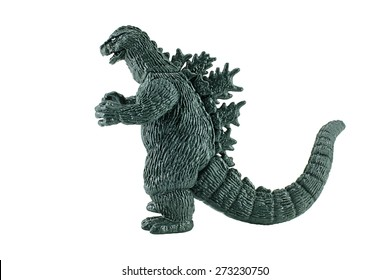 Bangkok,Thailand - April 26, 2015: Godzilla King of the Monsters figure toy. Godzilla is a giant monster or daikaiju originating from a series of tokusatsu films of the same name from Japan