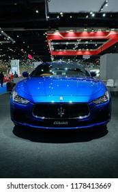 Bangkok/Thailand - Aug 23, 2018 : Big Motor Sale 2018, Maserati Ghibli