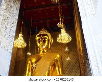 Bangkok/Thailand - December 31, 2019 : Phra Buddha Trai Rattananayok