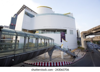 BANGKOK,THAILAND - JAN 3 : Bangkok art and culture center at Pathumwan junction on Jan 3,2015 in Bangkok, Thailand. Bangkok art and culture center is the first modern art center in Thailand.