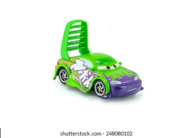 Bangkok,Thailand - January 27, 2015: Wingo a main protagonist of the Disney Pixar feature film Cars. A diecast cars collection from mattel inc.
