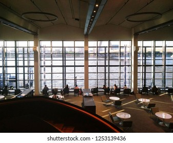 Bangkok/Thailand - January 30,2018 : An interior of a mixed use learning space, co working space, and library in one.