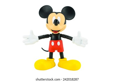 Bangkok,Thailand - January 5, 2015 : Mickey mouse toy action figure from Disney characters. This character from Mickey mouse and friend animation series.