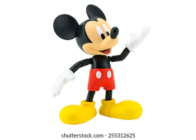 Bangkok,Thailand - January 6, 2015: Mickey  mouse action figure from Disney character. This character from Mickey mouse and friend animation series.