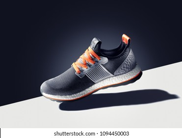 Bangkok,Thailand- January 7. 2017: Photo of  Adidas sport shoe  on color background. Founded in 1924 is a German multinational corporation that designs and manufactures sports shoes, clothing and acce