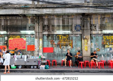 Bangkok-Thailand JUL 6 2017: Jek Pui Curry, The curry rice store (street food)  which is famous in China town (Yaowarat). They opened for more than 60 years.