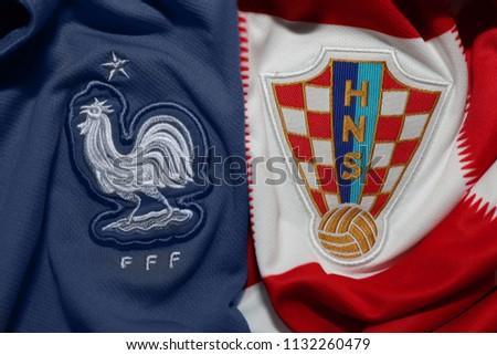29a90e4a7 BANGKOKTHAILAND JULY 12 France Croatia National Stock Photo (Edit ...