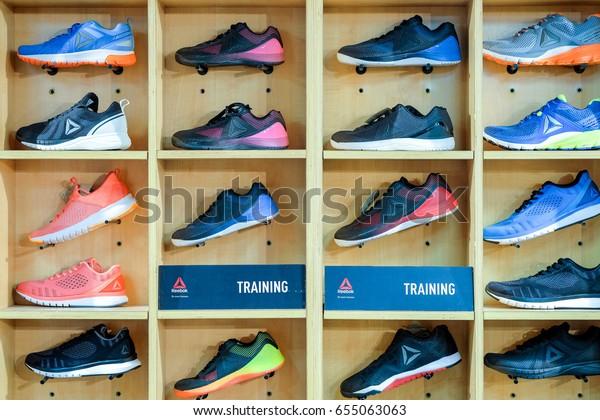 d82a20570 Bangkok-Thailand JUN 4 2017: Reebok Running shoes for men on showcase form  Reebok